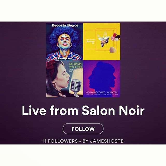 """Thanks @livefromsalonnoir for featuring """"Two Hands On Deck"""" in  your playlist .... Alongside some of my favourites @georgiavanetten @soundsofazon @annapancaldi 😍"""