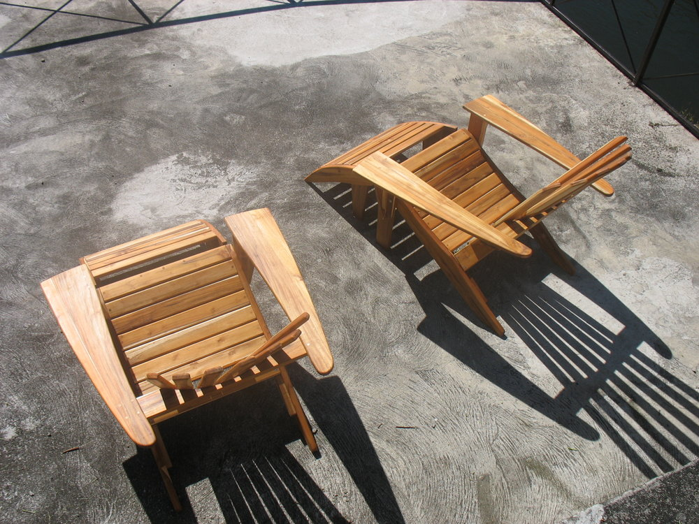 Adirondacks chairs, solid panamanian teak