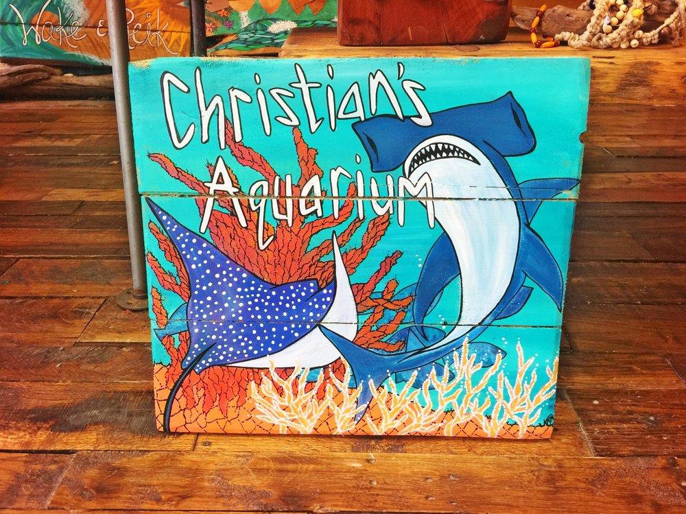 Christian's Aquarium Sign