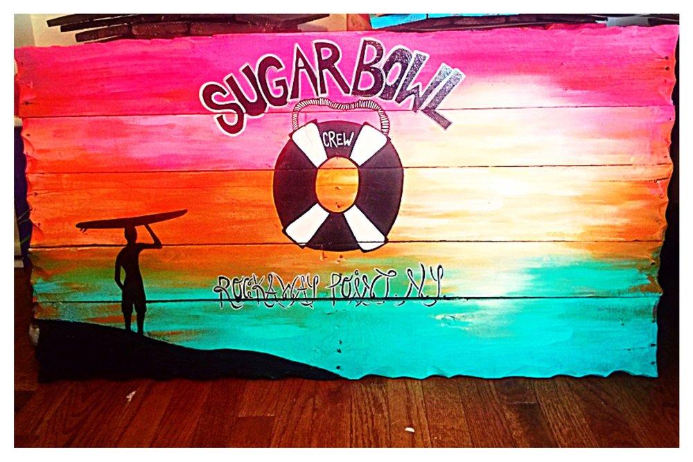 """The Sugar Bowl"" Custom Bar Sign             Breezy Point, NY"