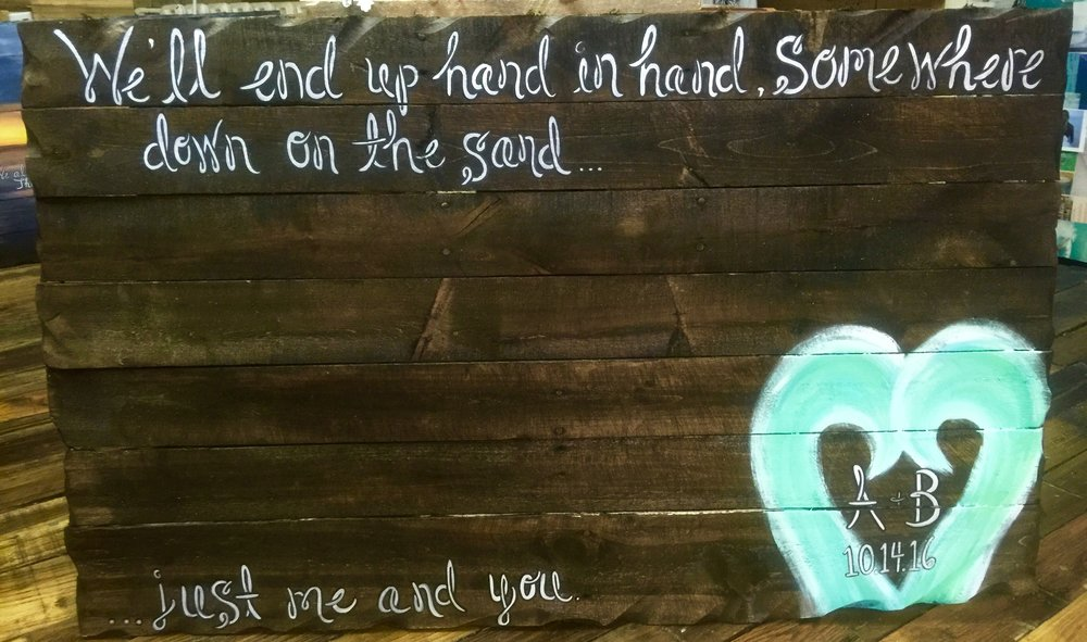 """""""Just me and you""""       Custom Wedding Sign/Guestbook"""