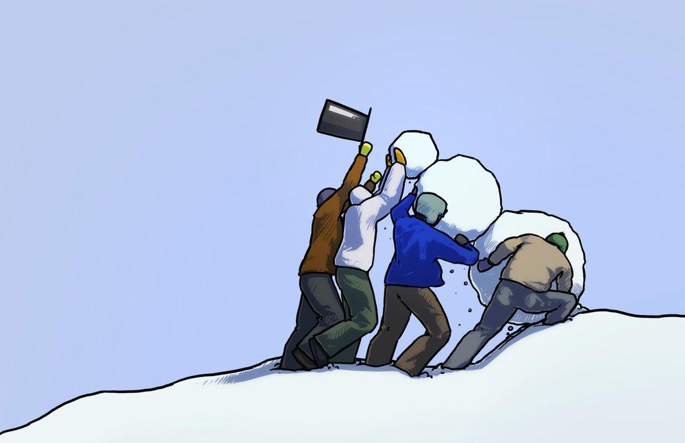 Raising the Snowman