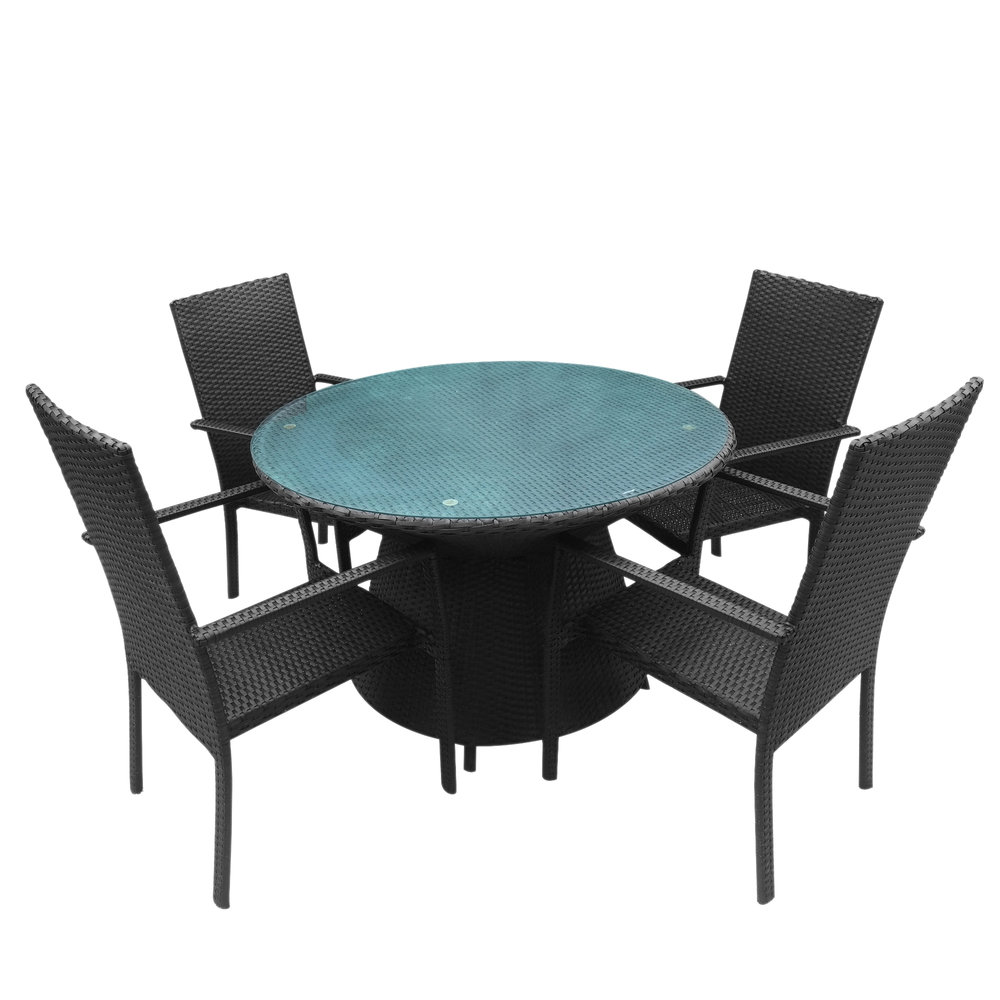 Beau Round Rattan Four Top Table