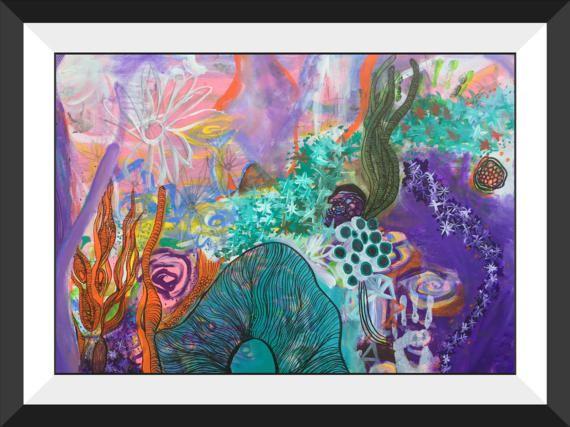"""Oceanid"" 8x10inch. Somerset Giclee Art Print-Mel Bikowski-Print 2017"