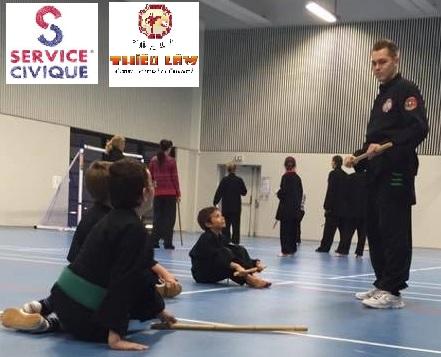 Service civique et arts martiaux