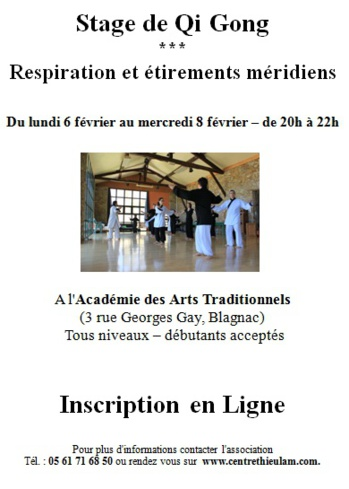 stage qi gong février 2017
