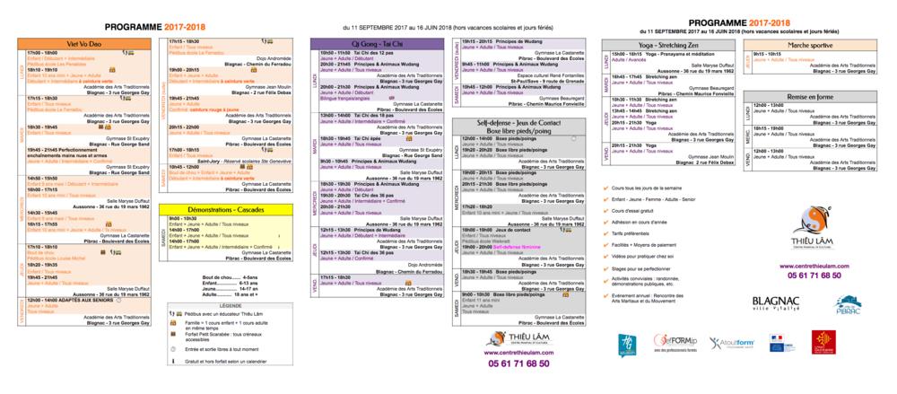 Planning complet des cours collectifs