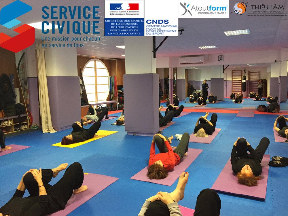 Cours de Hatha Yoga Pranayama avec le Centre Thieu Lam