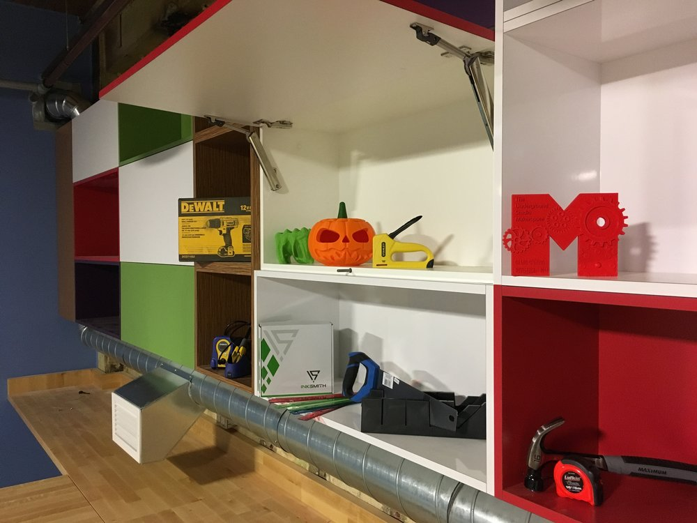 The Underground Studio at THEMUSEUM is a permanent, full-time extension of the Maker Club program we began in the unused basement storage space in 2012.