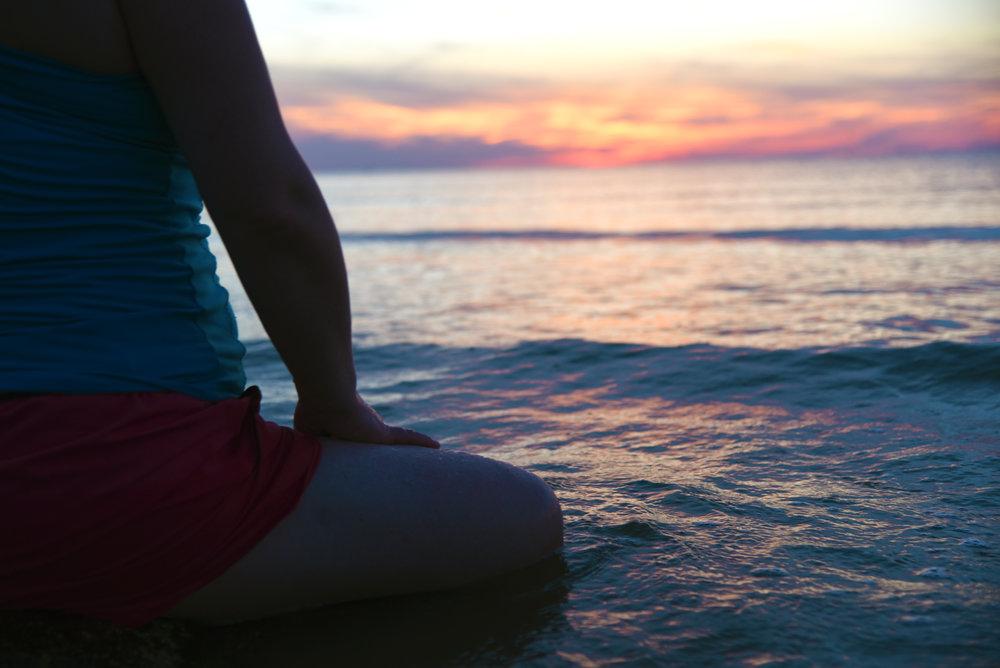 Meditation at the ocean