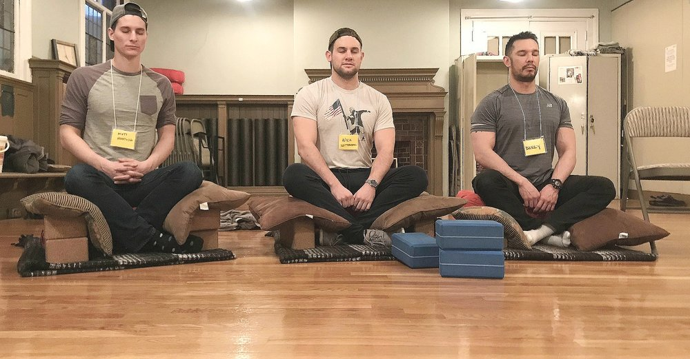 Matt, Nick and Barry showed everyone how to use the knee props for good seated posture