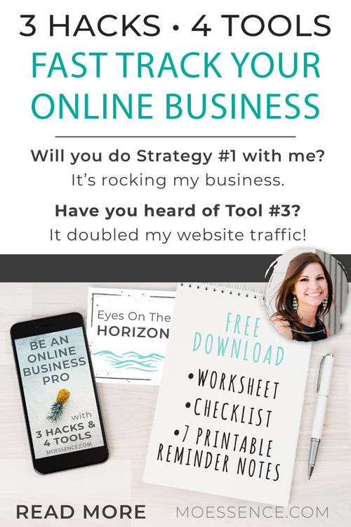 You're going to learn:  The Top 3 Hacks & Strategies from the Online Business Pros. Change your mindset and add a couple of routines to fast track you to the big leagues & fast track to your empire.  The Top 4 Tools I use to manage my online business. To best serve and really WOW my clients.  The 4 Steps to really use these strategies in your daily life  Plus FREE Copy and Paste Text to use in your business and personal life so Hack #2 is pure easy.   SECRET BONUS HACK after Hack #3.