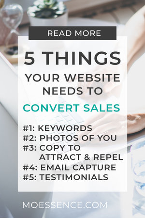 5 THINGS • Your Website Needs to Convert & Make Money What you'll learn: - How to drive traffic to your website - How to change your mindset around marketing and selling - How to connect and hook your online visitors. - How to convert and make more sales with this #1 credibility and trust technique