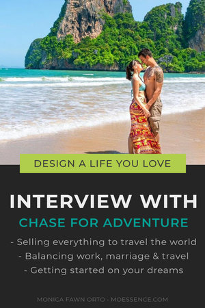 TRAVEL THE WORLD AS AN ENTREPRENEUR • Interview with Chase for Adventure Chase for Adventure answers: - Sell everything to travel the world - Balance work, marriage and travel - How to get started on your dreams  Interested in learning how to be location independent or a digital nomad? There's more!