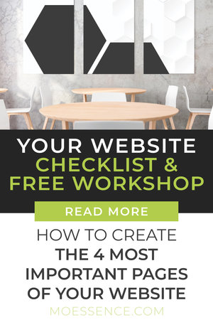ACCESS YOUR FREE VIDEO COURSE. CREATE YOUR CONTENT & LAYOUT FOR ALL 4 OF THESE PAGES STEP-BY-STEP Learn: How to create website pages. How to plan a website layout and content. What pages to have on your website. What needs to go on the home page. How to write copy for your website.  What each website page should include.  With a few tips and some step-by-step guidance & prompts you can write copy that will really connect and convert your visitors. Get started here!