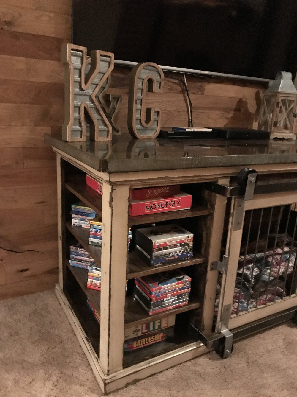 Entertainment Component, Shelves Built in Kennel