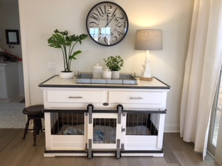 Single XL, White, Painted Finish, Drawers, Barn Doors
