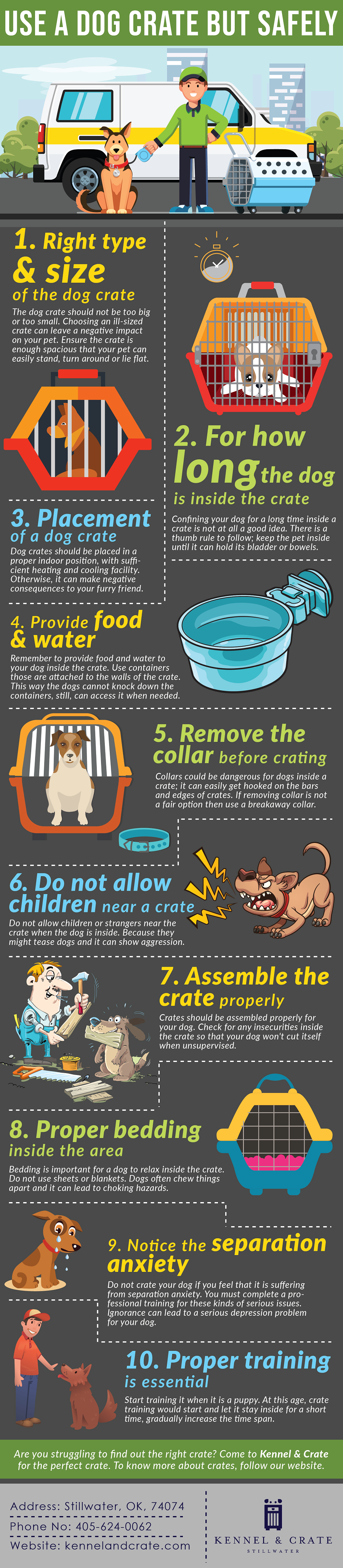 Use A Dog Crate But Safely Infographic