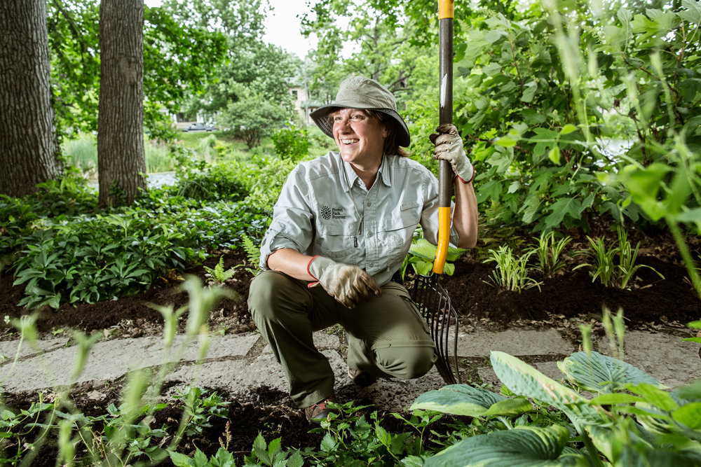 Forest Park Forever Horticulture Apprentice Susan Van De Reit, putting donor dollars to work in the Park in 2017