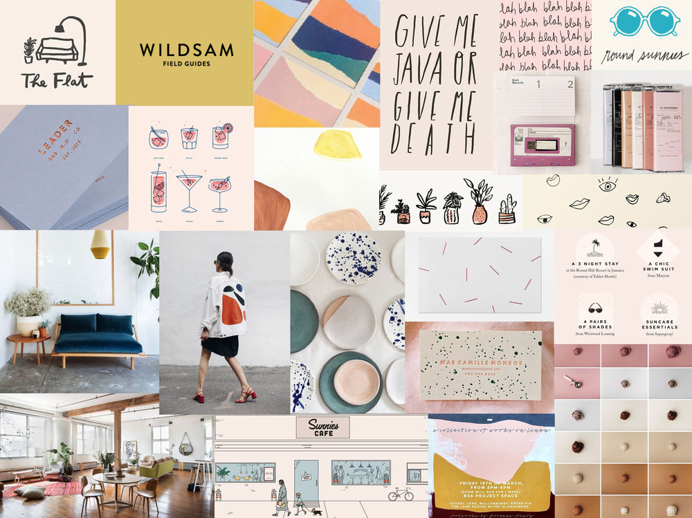 Sample vision board I made for my previous business Eden & June. Photos grabbed from Pinterest, Instagram and other websites. I don't take credit for any of these photos and graphics :)