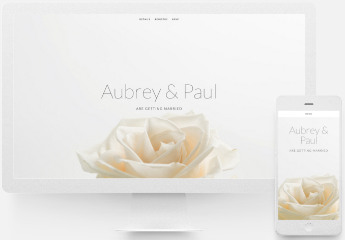 My wedding website must haves: -