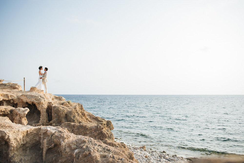 Ibiza cliff-top wedding