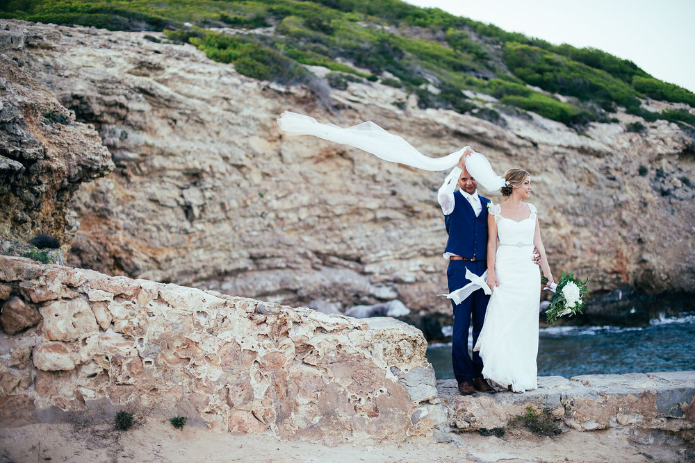 La Escollera Es Cavallet Ibiza Wedding Bride