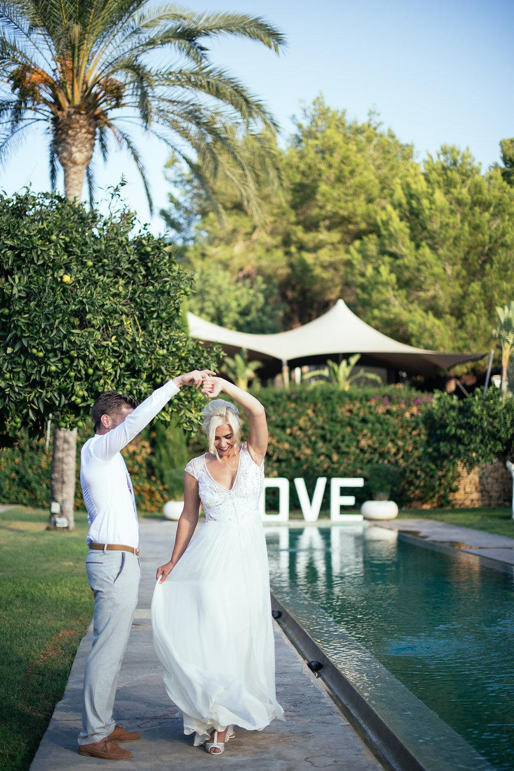 Ibiza countryside wedding