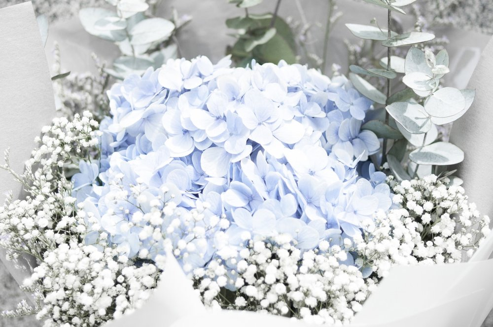 Weiß und Pastellfarben -