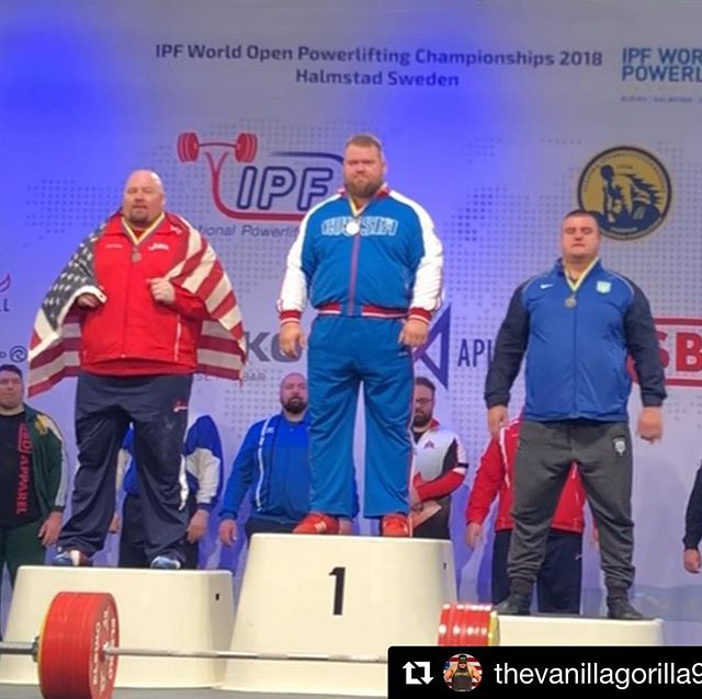 Congrats to Blaine and his amazing comeback! @musclemonster @stlbarbellco @squat2depth_apparel @tuffwraps #Repost @thevanillagorilla92 with @get_repost ・・・ 8 weeks ago I sliced my arm open missing the rack on a 1,025 lb squat. I was less than a centimeter away from ending my lifting career. And a few feet away from ending my wife's life. Right when my equipped training was supposed to start for Worlds, this happened. The first few hours in the ER and the next few weeks I thought I was done because mentally getting under the bar again scared the daylights out of me. When I first tried lifting again I would get dizzy and light headed trying to load the bar because of the psychological trauma and I couldn't get over the scarring memory of seeing my bodily tissue hanging out of my arm. My wife got my head screwed on straight and pushed me to overcome this fear. I cannot begin to describe what she has done for me to get ready for this meet. I'll save that for another post. With only a couple weeks left before Worlds, I got under the bar again and had even more near catastrophes - again for a later post. I kept facing these incidents and kept coming back. I finished a heartbreaking 2nd today at the IPF Open World Championships. Only my opening squat of 1,025 lbs was passed after 1,047 lbs got turned down twice on depth. I broke my own Bench Press World Record with 915 lbs on my opening attempt and pressed 937 lbs but was overturned by the jury. I deadlifted 761 lbs for a total of 2,701 lbs, 5 lbs. behind first place. Well deserved win to Konovalov from Russia and an exceptional performance from an incredible lifter. I've had some heartbreaking meets in my career - but for some reason this is easier to swallow because of how different my life could have changed a few weeks ago. I don't know what comes next in my lifting career, but thank you all for the support - I love you all!