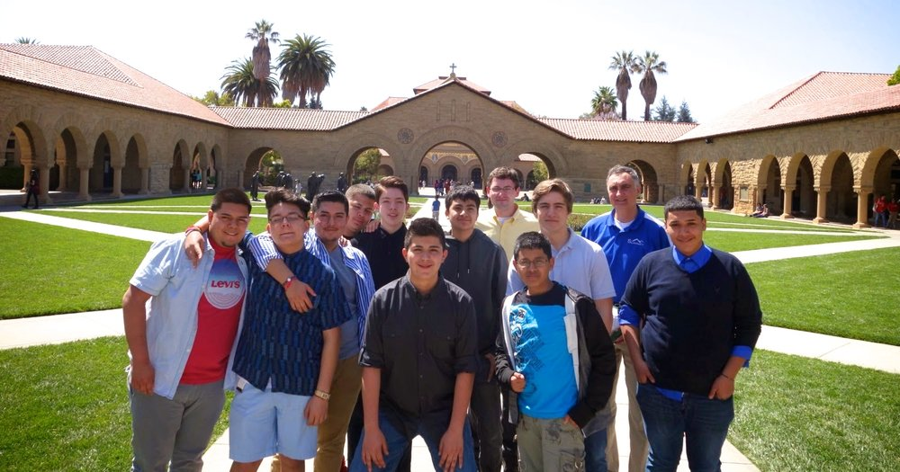 Summit High School College Bound students visit Stanford University during a college visit trip.