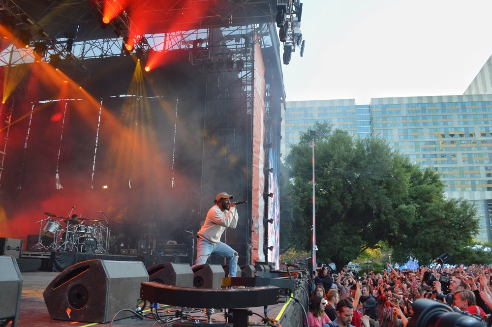 Kendrick Lamar at Discovery Green during Final Four weekend.