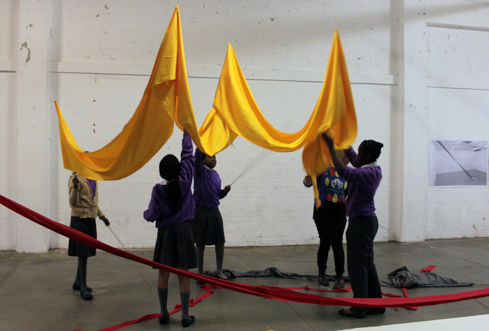 I was invited by Hackney Wicked development programme to lead a workshop to 10 and 11 year olds creating large-scale sculptural installations that both the maker and viewer could inhabit.