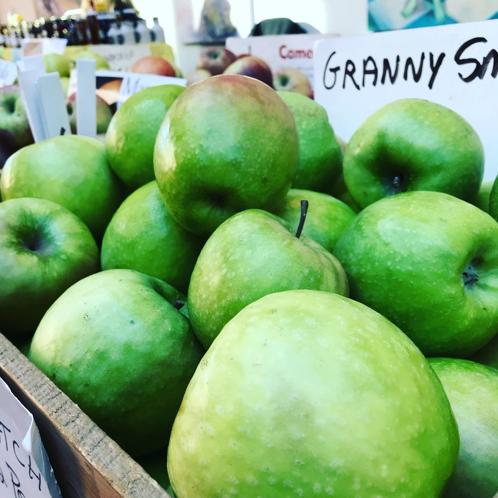 Fresh Picked Granny Smith apples make some amazing juice.