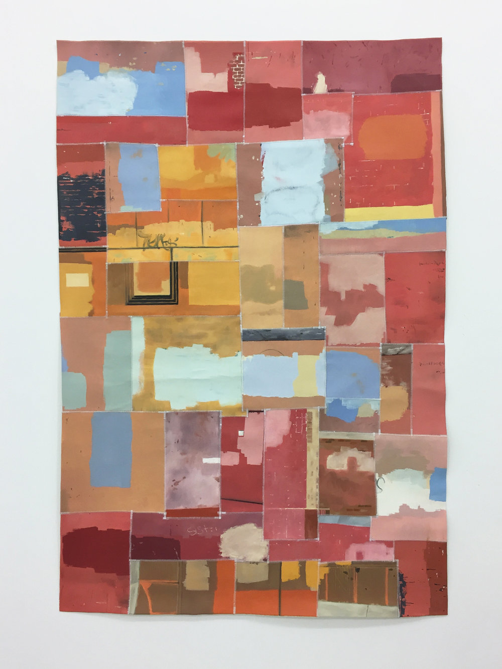 oil on canvas and thread  1,500 × 1,000 mm (about 59 × 39 inch)  2017