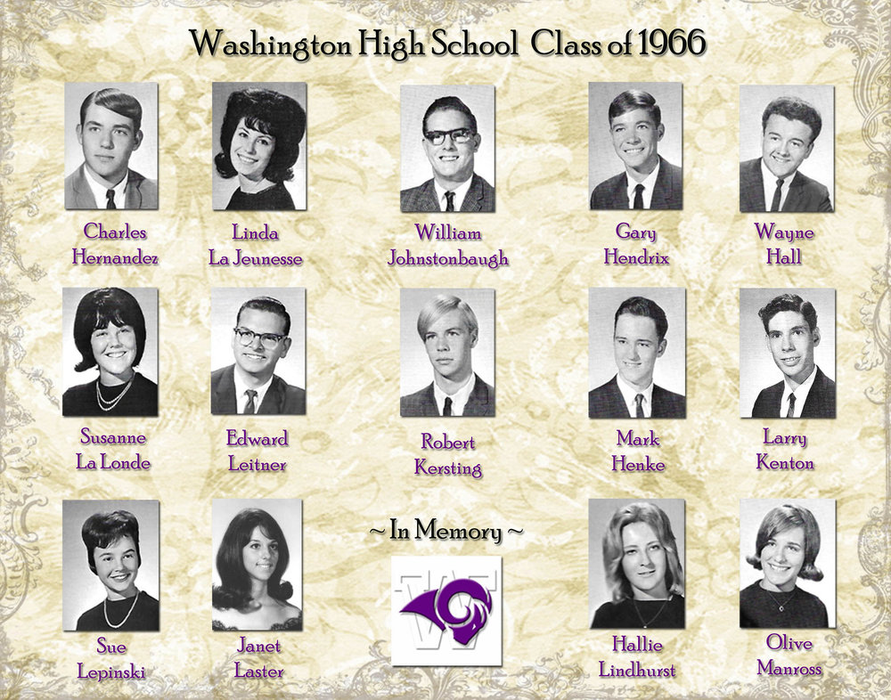 Memorial Page with Smaller Yearbook Photos