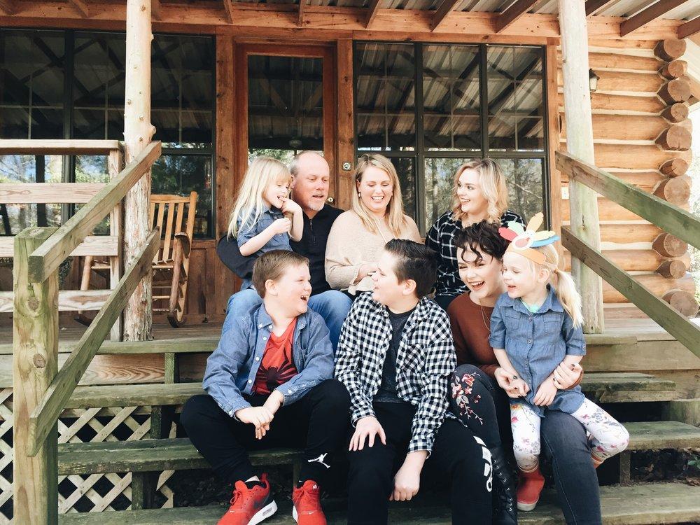 Pixler Family: (Back row) Ana, Steve, Jeana, Alaina (Front row) Christopher, Nicolas, Natalie, Ella