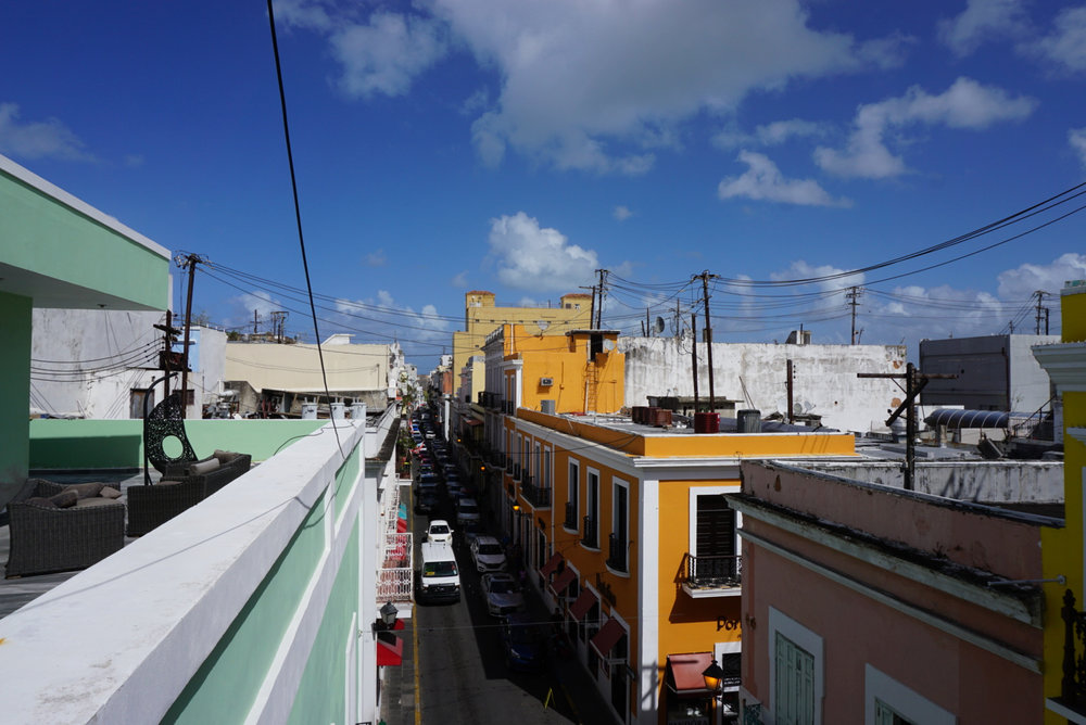 A narrow Old San Juan street