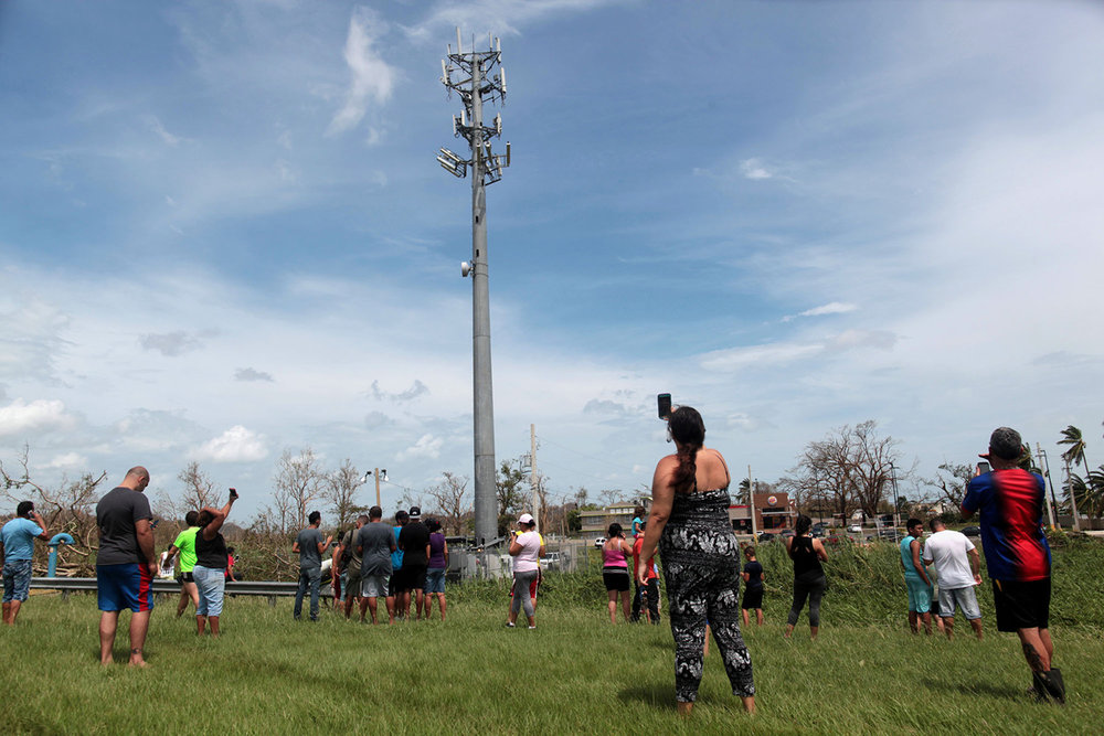 The motivation behind this project: civilians attempting to regain service near a cell tower
