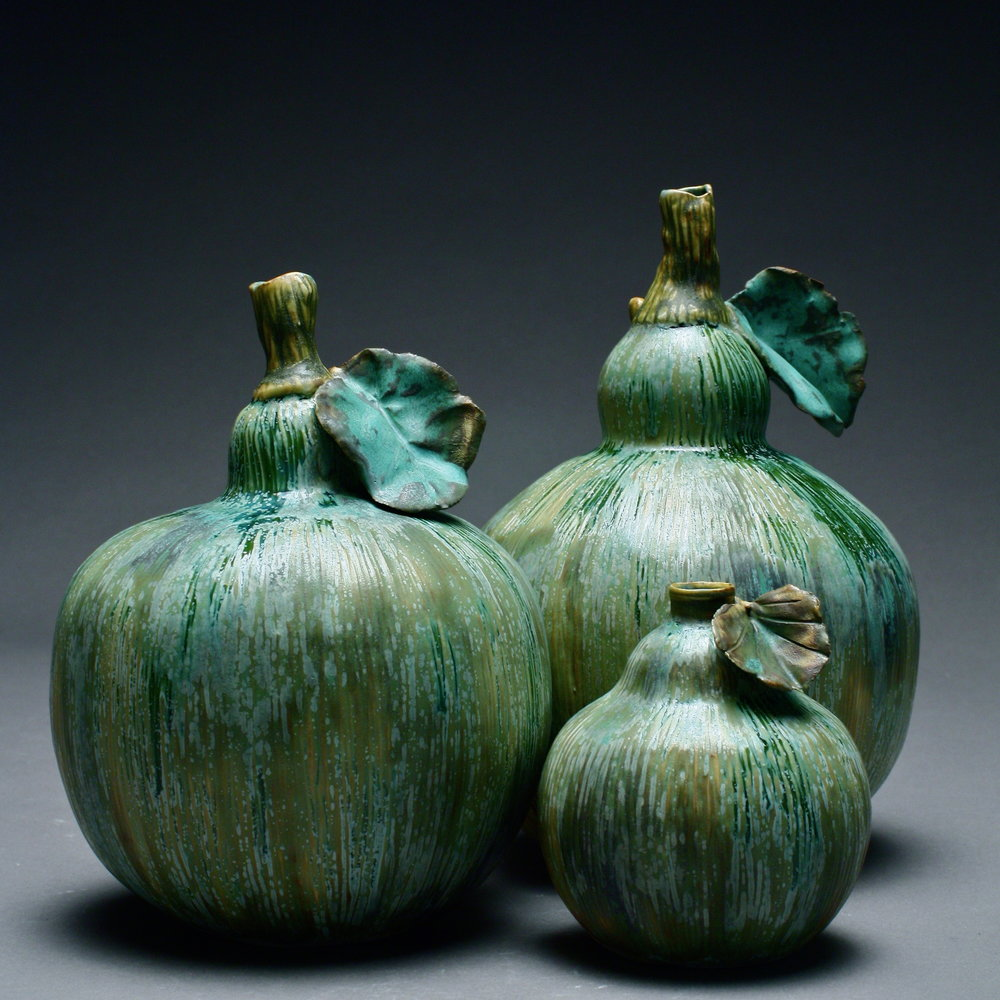 FV-01 | Green Gourds with Leaves ($55-85)