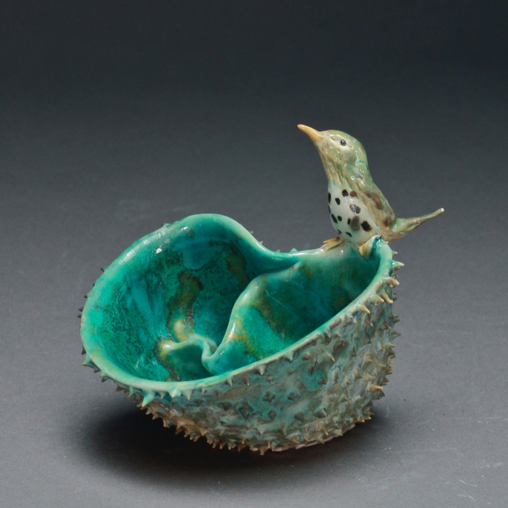 P-20 | Small Prickled Folded Pool with Thrush ($150)