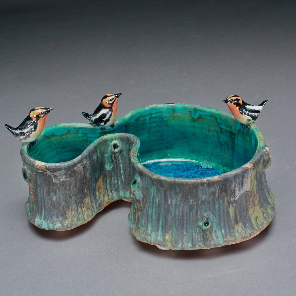 P-05 | Large Woodland Pool with 3 Orioles ($375)