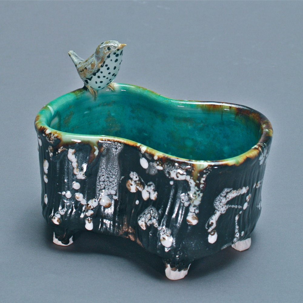 P-30 | Small Lichen Footed Pool with Thrush ($150)