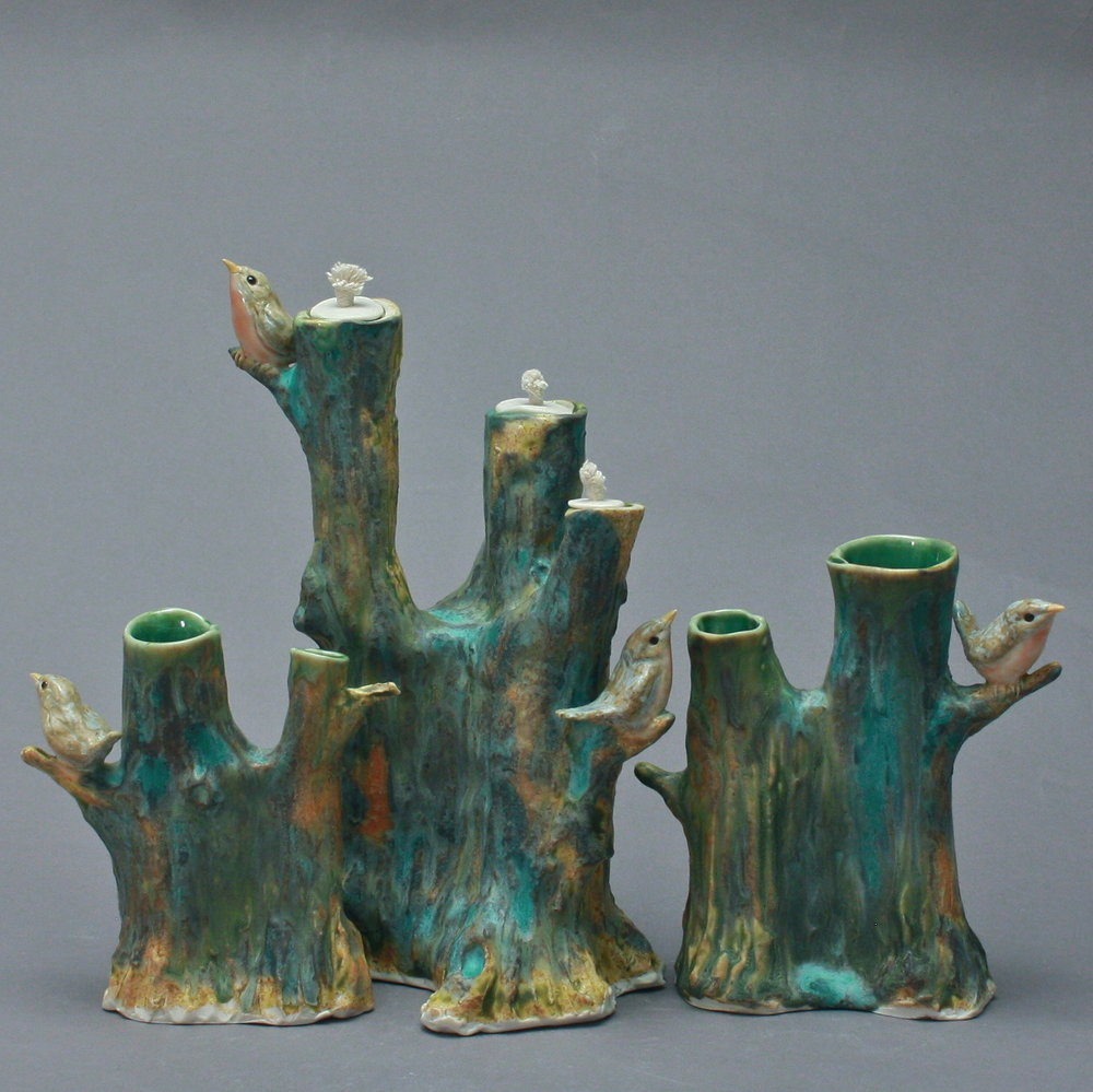 TS-03 | Tree Table Set with Robins ($495)