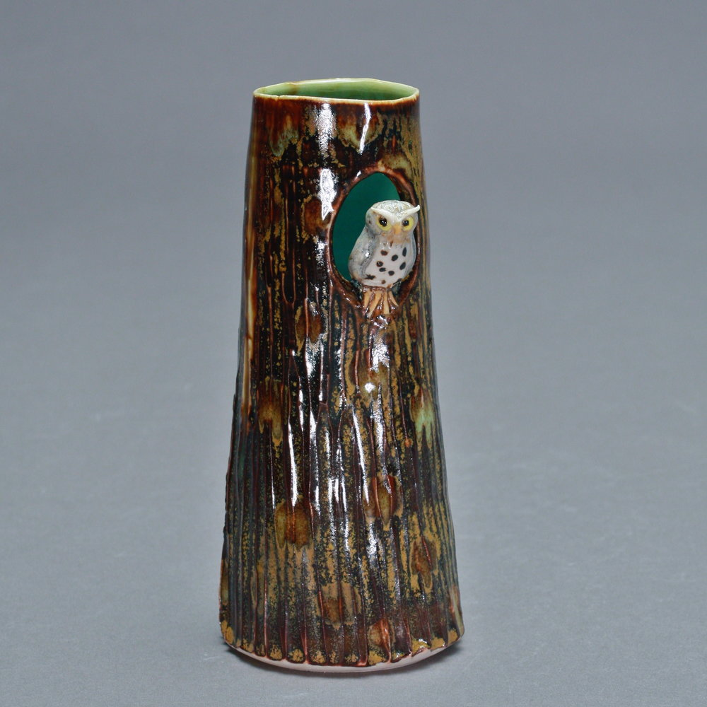 V-02 |  Tree Vase with Owl ($85)