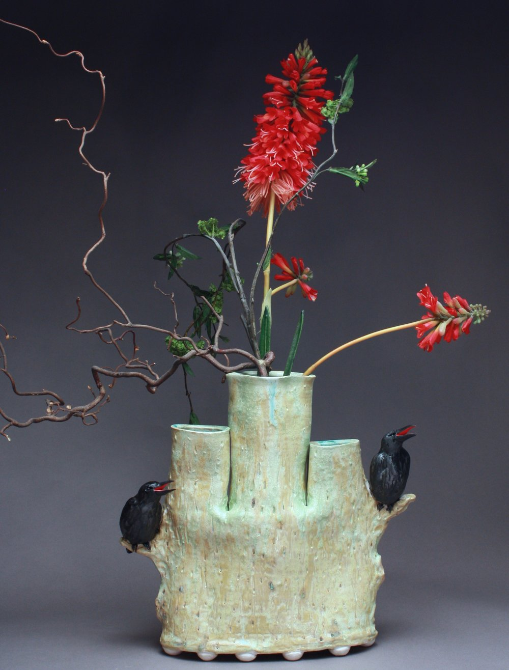 In Use - 02 | Triple Bud Vase with Crows
