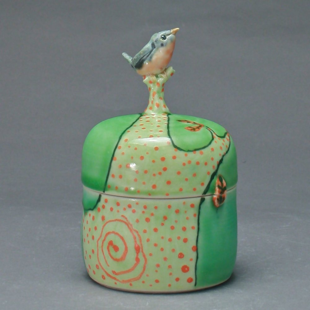 B- 16 |   Large Tree Green Box with Bluebird ($175)