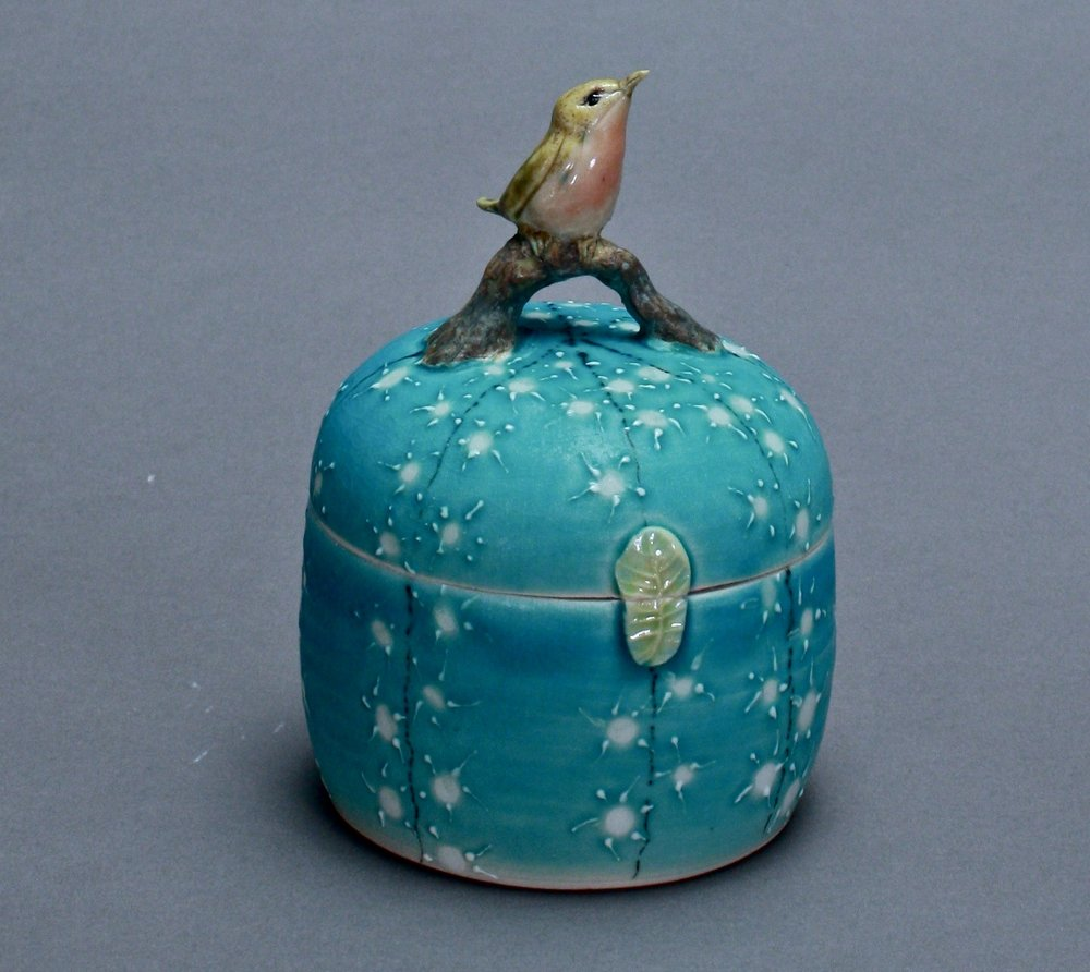 B- 18 |  Turquoise Box with Robin ($175)