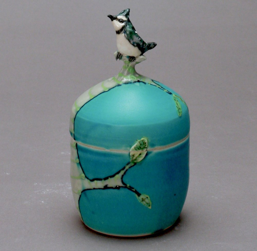 B- 29 | Turquoise Box with Blue Jay ($175)