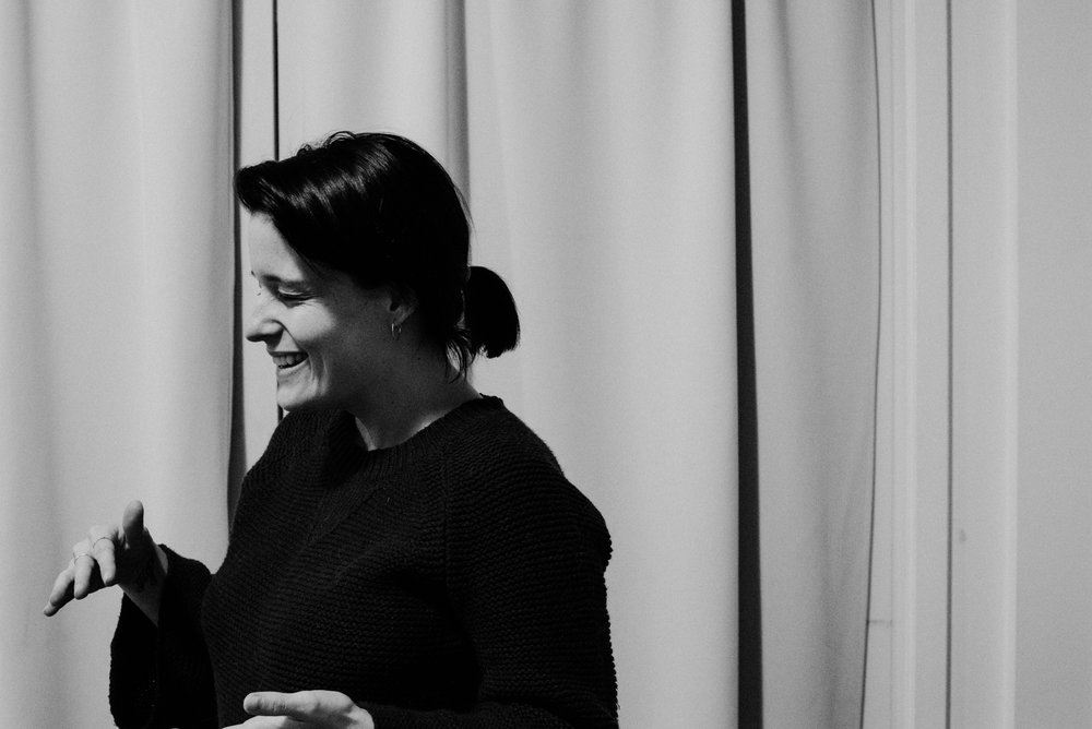 + Tessa captured me chatting with a client just before a photoshoot - one of my fave things ever!